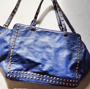 Vieta fashion  royal blue bag large strap & handle